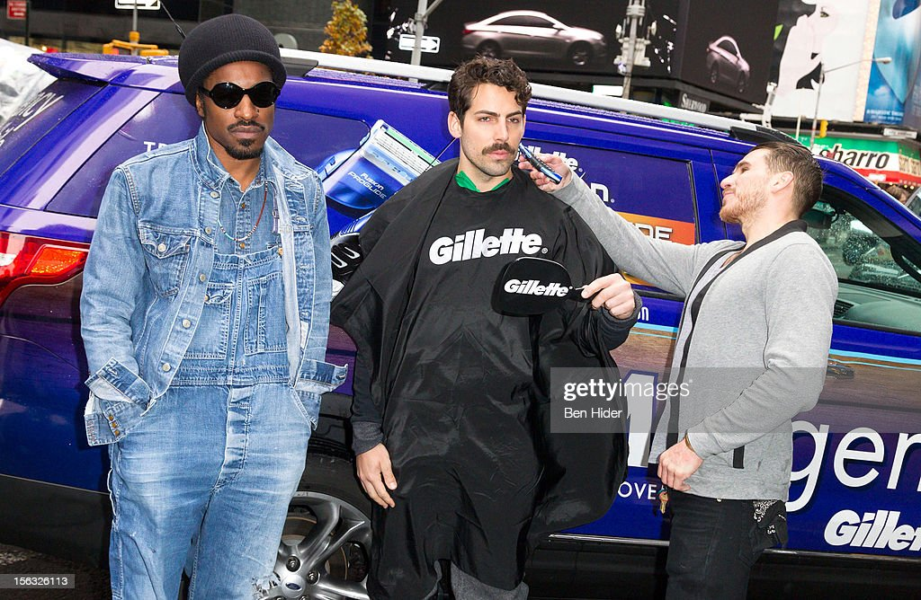 Andre 3000 (L) attends the Gillette 'Movember' Event on November 13, 2012 in New York City.