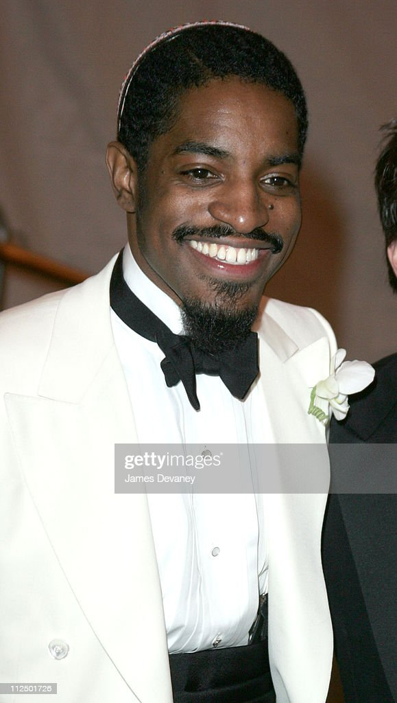 <a gi-track='captionPersonalityLinkClicked' href=/galleries/search?phrase=Andre+3000&family=editorial&specificpeople=220195 ng-click='$event.stopPropagation()'>Andre 3000</a> during 'Chanel' Costume Institute Gala at The Metropolitan Museum of Art - Departures at The Metropolitan Museum of Art in New York City, New York, United States.