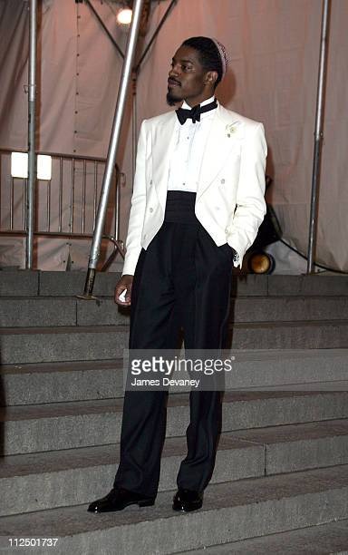 Andre 3000 during 'Chanel' Costume Institute Gala at The Metropolitan Museum of Art Departures at The Metropolitan Museum of Art in New York City New...