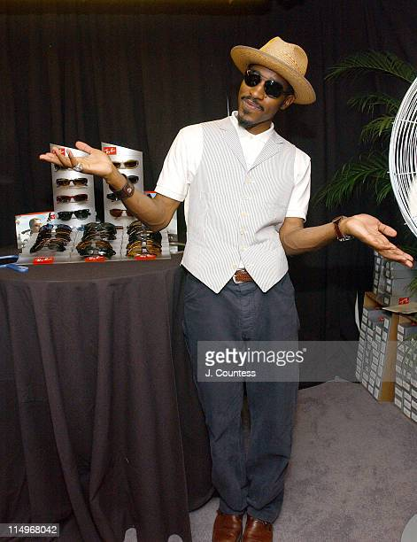 Andre 3000 in Sunglasses by RayBan during Fashion Rocks Talent Gift Lounge Produced by On 3 Productions Day 2 at Radio Music Hall in New York City...