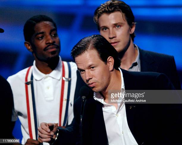 Andre 3000 Mark Wahlberg and Garrett Hedlund during 2005 ESPY Awards Show at Kodak Theatre in Hollywood California United States