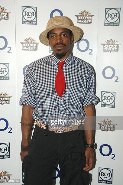 Andre 3000 of Outkast during OutKast Give New Album 'Idlewild' a Spin at O2 Exclusive Album Launch Party at BA London Eye in London Great Britain