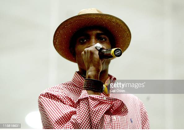 Andre 3000 of Outkast during Playstation 2 HipHop Summit July 2004 in Boston Massachusetts United States