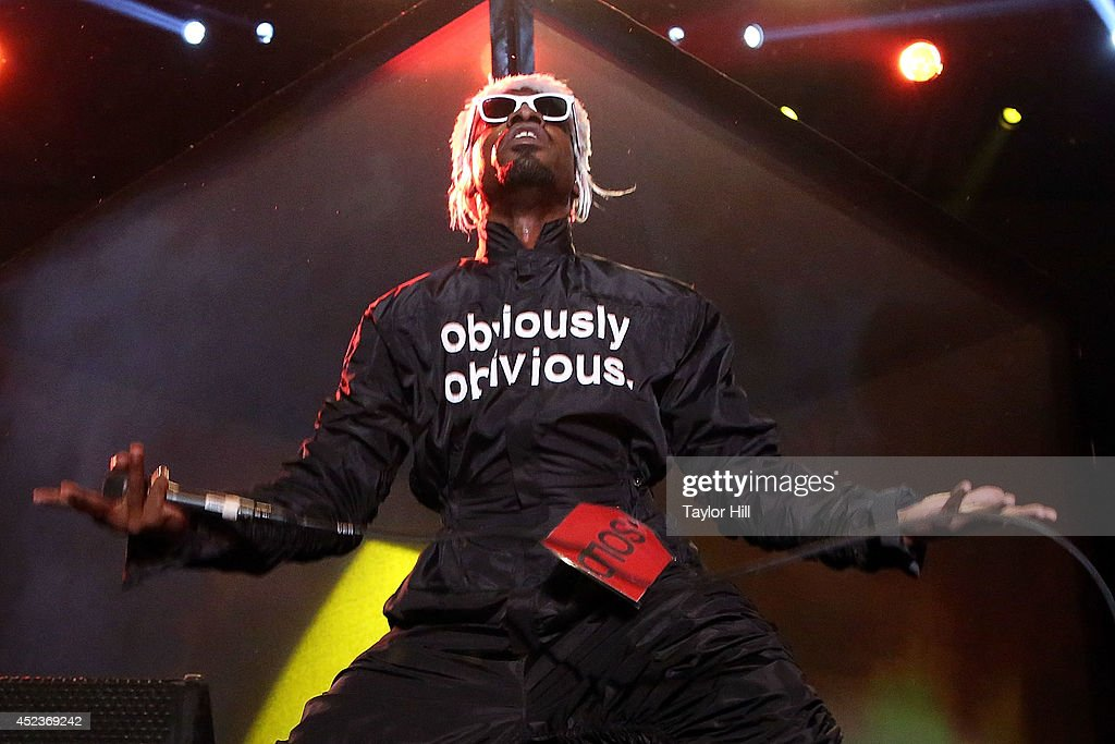 Andre 3000 of Outkast performs during the 2014 Forecastle Music Festival at Louisville Waterfront Park on July 18, 2014 in Louisville, Kentucky.