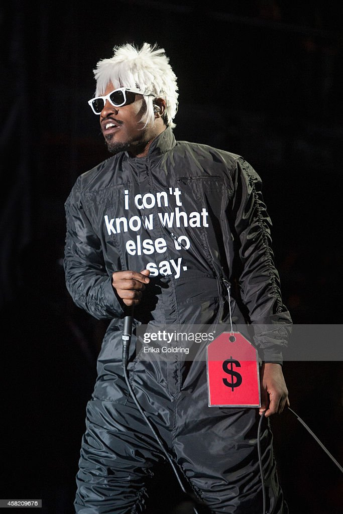 Andre 3000 of Outkast performs during Voodoo Fest at New Orleans City Park on October 31 2014 in New Orleans Louisiana