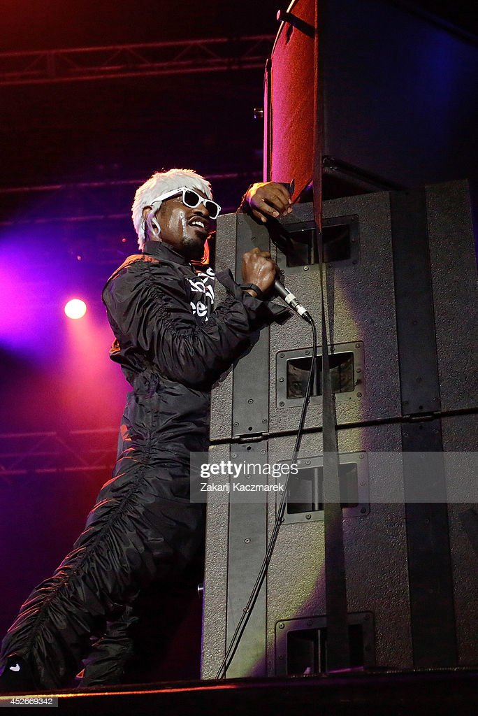 Andre 3000 of Outkast performs on stage at Splendour In the Grass 2014 on July 25, 2014 in Byron Bay, Australia.
