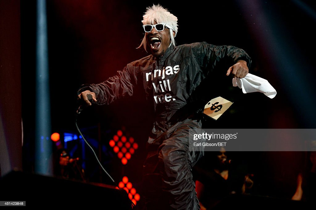 Andre 3000 of Outkast performs onstage at the OutKast, A$AP Rocky, Rick Ross, K. Michelle, August Alsina & Ty Dolla $ign Presented By Sprite during the 2014 BET Experience At L.A. LIVE on June 28, 2014 in Los Angeles, California.