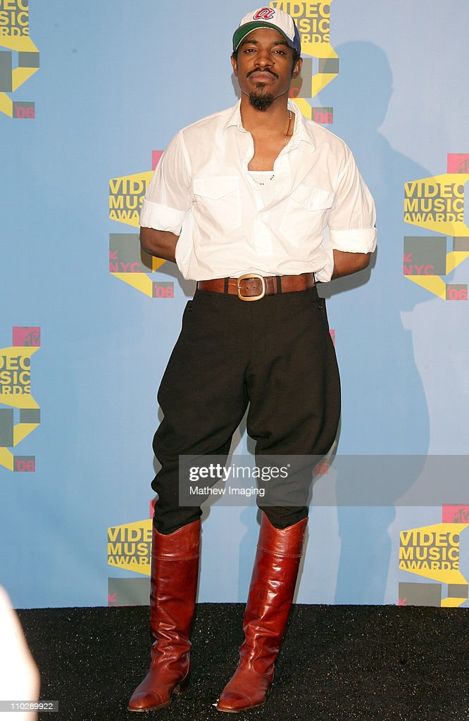 Andre 3000, presenter Best Hip Hop Video during 2006 MTV Video Music Awards - Press Room at Radio City Music Hall in New York City, New York, United States.