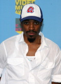 Andre 3000 presenter for Best Hip Hop Video during 2006 MTV Video Music Awards Press Room at Radio City Music Hall in New York City New York United...