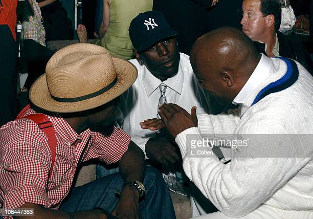 Andre 3000 Tyrese and John Singleton during 2005 Premiere Magazine 'The New Power' Award Show and After Party at Hollywood Roosevelt Hotel in Los...