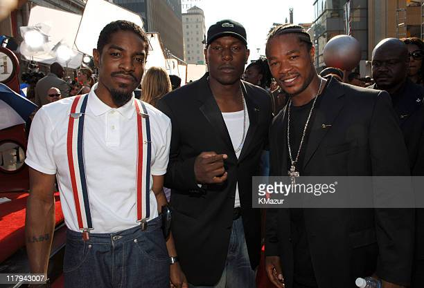 Andre 3000 Tyrese Gibson and Xzibit during 2005 ESPY Awards Red Carpet at Kodak Theatre in Hollywood California United States