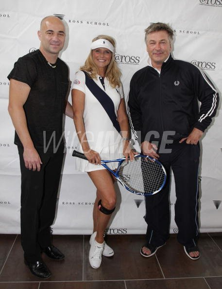 a2cb0a21dd Andre Agassi Christie Brinkley and Alec Baldwin attend the Grand ...