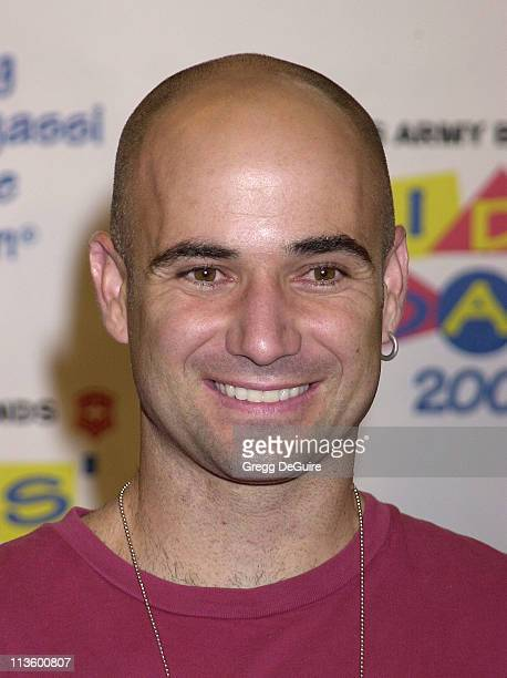 Andre Agassi during Andre Agassi's 6th Grand Slam for Children Fundraiser Press Conference at MGM Grand Hotel in Las Vegas Nevada United States