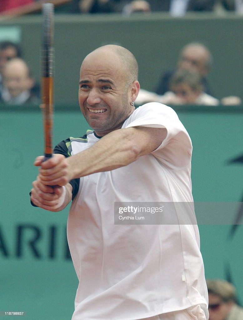 2005 French Open - Men's Singles - First Round - Jarkko Nieminen vs Andre Agassi
