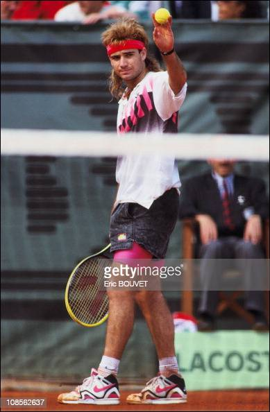 Roland Garros Men Finals GomezAgassi In Paris France On