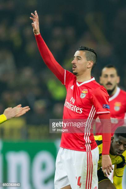 Andre Almeida of Benfica gestures during the UEFA Champions League Round of 16 Second Leg match between Borussia Dortmund and SL Benfica at Signal...