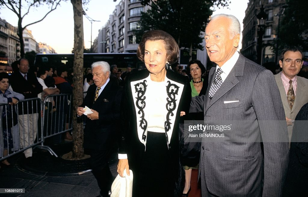 Andre And <a gi-track='captionPersonalityLinkClicked' href=/galleries/search?phrase=Liliane+Bettencourt&family=editorial&specificpeople=2343695 ng-click='$event.stopPropagation()'>Liliane Bettencourt</a> on September 01, 1996.