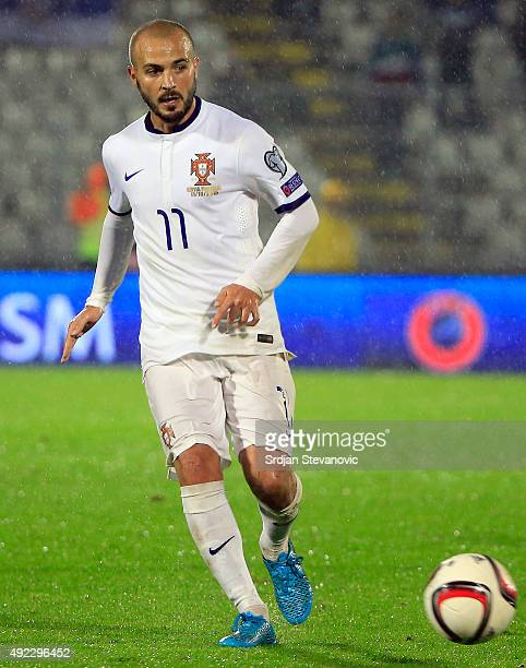 Andre Andre of Portugal in action during the Euro 2016 qualifying football match between Serbia and Portugal at the Stadium FC Partizan in Belgrade...