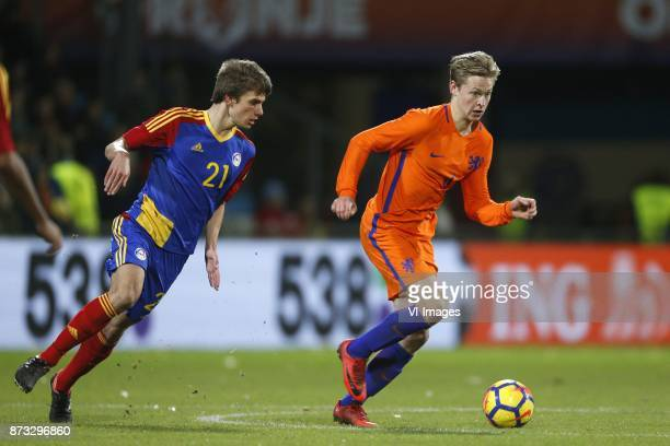 Andre Armada of Jong Andorra Frenkie de Jong of Jong Oranje during the EURO U21 2017 qualifying match between Netherlands U21 and Andorra U21 at the...