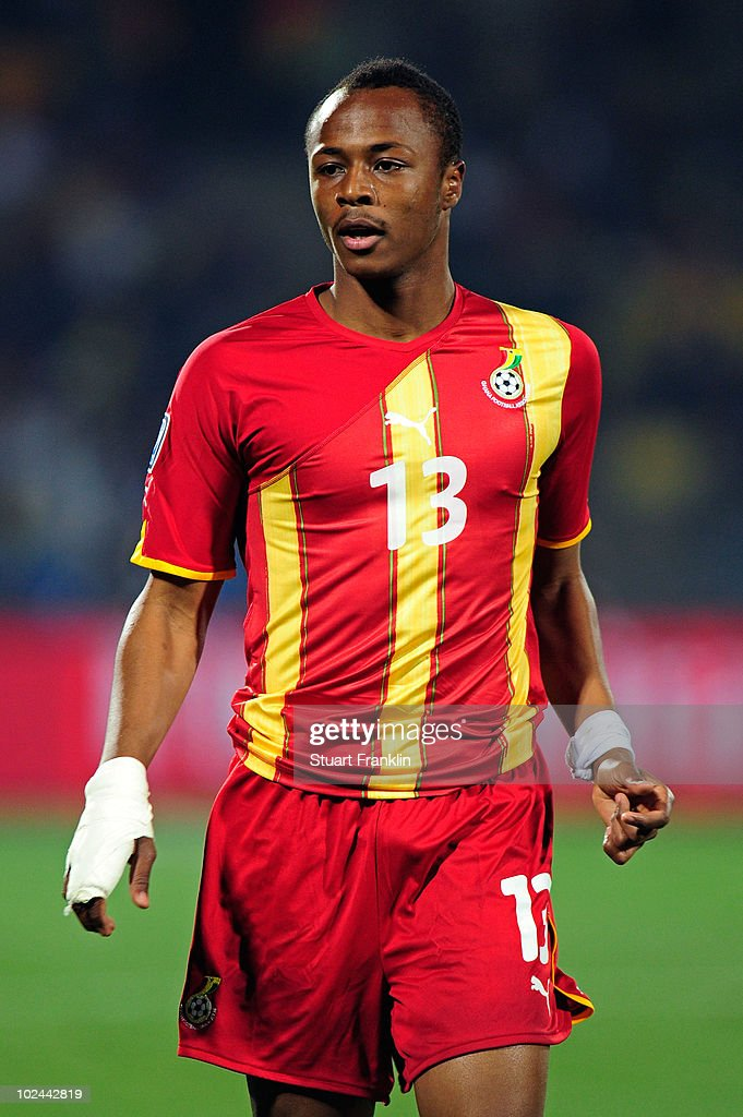 Andre Ayew of Ghana in action during the 2010 FIFA World Cup South Africa Round of Sixteen match between USA and Ghana at Royal Bafokeng Stadium on June 26, 2010 in Rustenburg, South Africa.