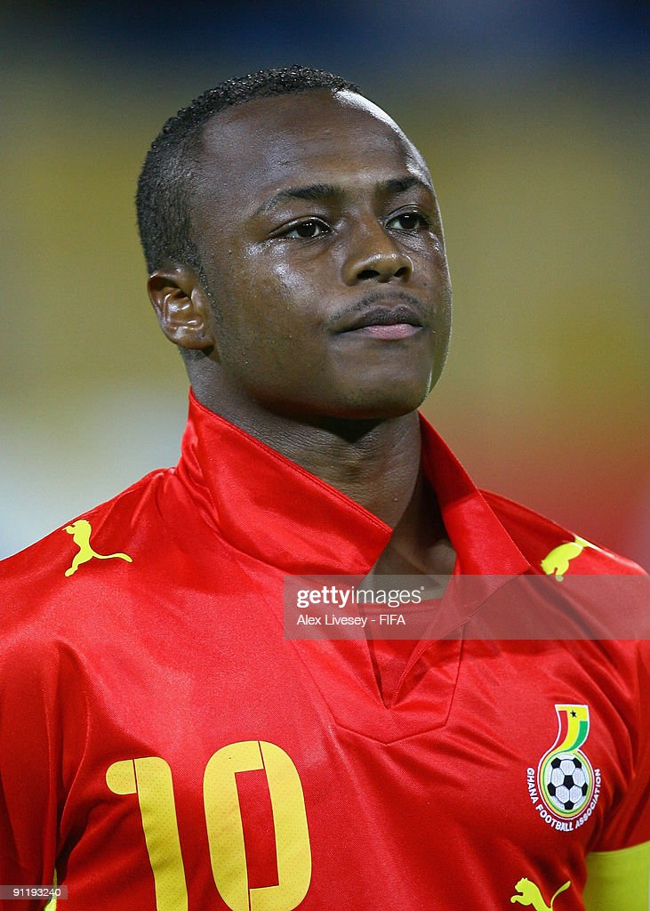 Andre Ayew of Ghana lines up prior to the FIFA U20 World Cup Group D match between Ghana and Uzbekistan at the Ismailia Stadium on September 26, 2009 in Ismailia, Egypt.