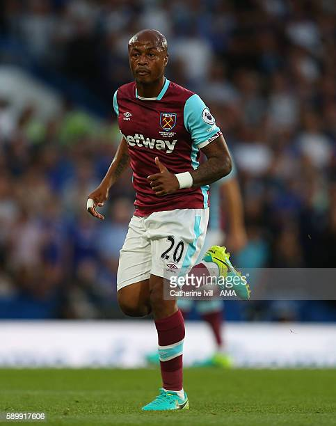 Andre Ayew of West Ham during the Premier League match between Chelsea and West Ham United at Stamford Bridge on August 15 2016 in London England