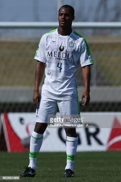 Andre Bahia of Shonan Bellmare in action during the JLeague J2 match between Kamatamare Sanuki and Shonan Bellmare at Pikara Stadium on April 2 2017...