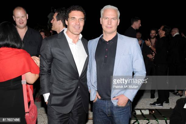Andre Balazs and Klaus Biesenbach attend Playboy presents the NUDE IS MUSE An Art Salon for Art Basel Miami 2010 at The Standard Hotel on December 4...