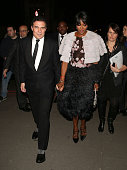 Andre Balazs and Naomi Campbell attend the Alexander McQueen Savage Beauty Fashion Gala at the VA on March 12 2015 in London England