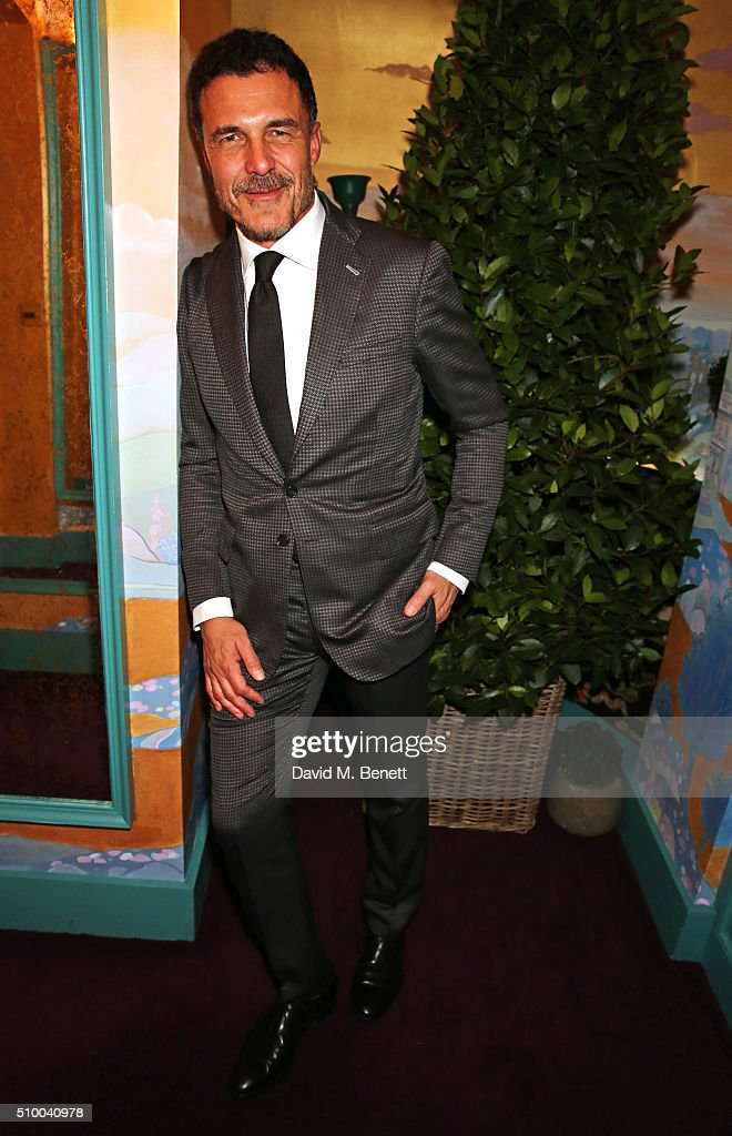 Andre Balazs attends the Charles Finch and Chanel Pre-BAFTA cocktail party and dinner at Annabel's on February 13, 2016 in London, England.