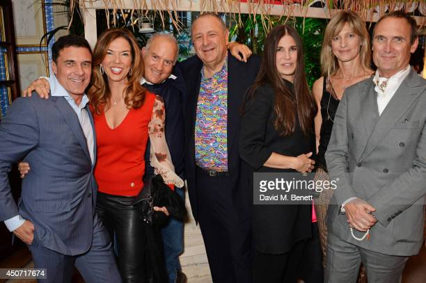 Andre Balazs Heather Kerzner Charles Finch Jean Pigozzi Elizabeth Saltzman Nicola Formby and A A Gill attend the LimoLand SS15 collection preview...
