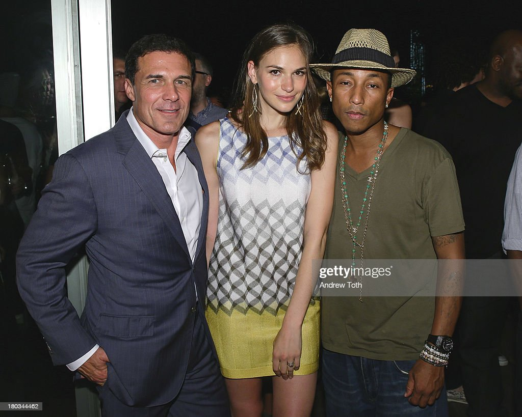 Andre Balazs, <a gi-track='captionPersonalityLinkClicked' href=/galleries/search?phrase=Jennifer+Missoni&family=editorial&specificpeople=615013 ng-click='$event.stopPropagation()'>Jennifer Missoni</a> and <a gi-track='captionPersonalityLinkClicked' href=/galleries/search?phrase=Pharrell+Williams&family=editorial&specificpeople=161396 ng-click='$event.stopPropagation()'>Pharrell Williams</a> attend the Daniel Ashram And <a gi-track='captionPersonalityLinkClicked' href=/galleries/search?phrase=Pharrell+Williams&family=editorial&specificpeople=161396 ng-click='$event.stopPropagation()'>Pharrell Williams</a> Fashion Week Party at The Standard East Village on September 11, 2013 in New York City.