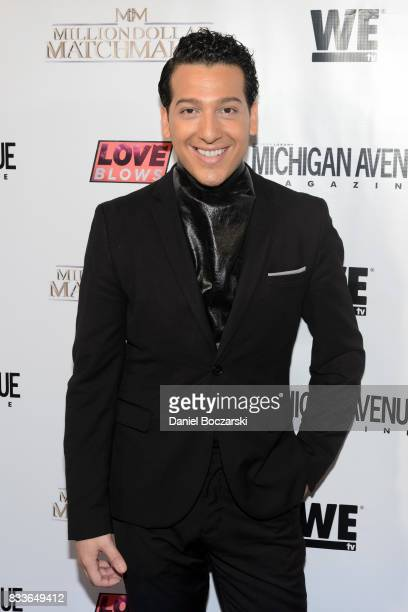 Andre Bellos attends WE tv's LOVE BLOWS Premiere Event at Flamingo Rum Club on August 16 2017 in Chicago Illinois