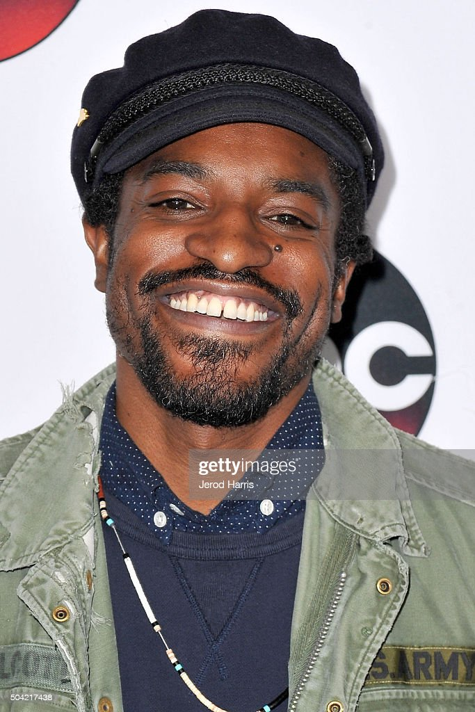 Andre Benjamin arrives at the Disney/ABC 2016 Winter TCA Tour at the Langham Hotel on January 9, 2016 in Pasadena, California.