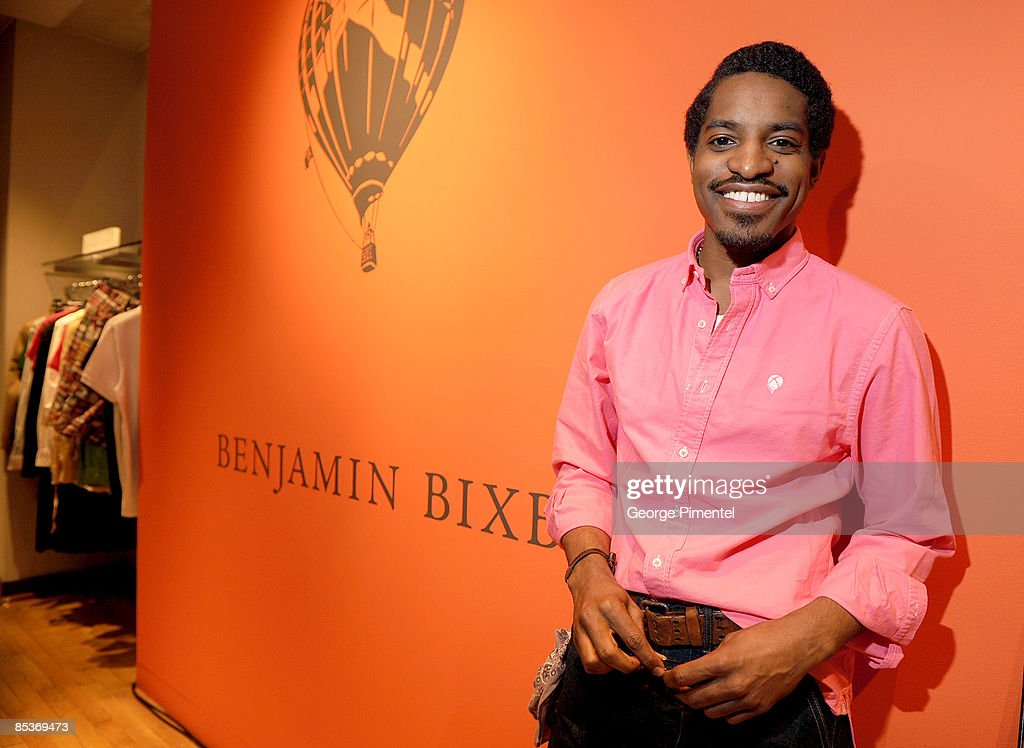 Andre Benjamin Visits Holt Renfew Bloor Street To Launch 'Benjamin Bixby' Menswear Spring 2009 Collection on March 10, 2009 in Toronto, Canada.