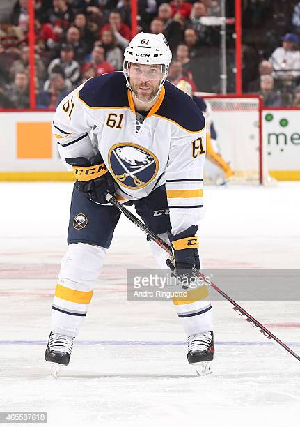Andre Benoit of the Buffalo Sabres skates against the Ottawa Senators at Canadian Tire Centre on March 6 2015 in Ottawa Ontario Canada