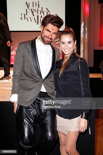 Andre Borchers and Cathy Fischer attend the Audi Fashion Award 2014 on October 09 2014 in Hamburg Germany