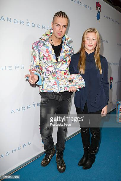 Andre Borchers and Luna Schweiger attend the Andre Borchers Collection Launch at the Alte Oberpostdirektion on November 13 2012 in Hamburg Germany