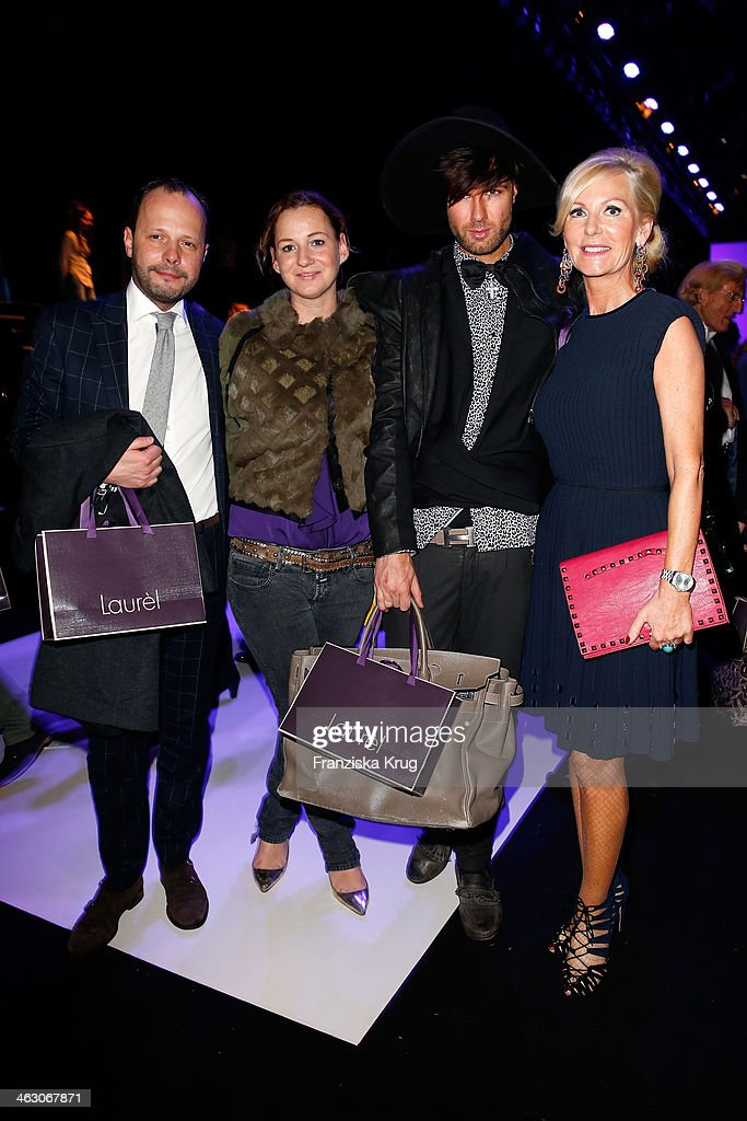 Andre Borchers and Marion Fedder attend the Laurel show during Mercedes-Benz Fashion Week Autumn/Winter 2014/15 at Brandenburg Gate on January 16, 2014 in Berlin, Germany.