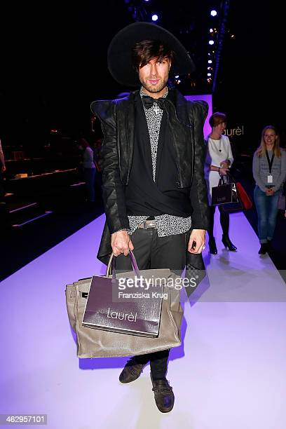 Andre Borchers attends the Laurel show during MercedesBenz Fashion Week Autumn/Winter 2014/15 at Brandenburg Gate on January 16 2014 in Berlin Germany