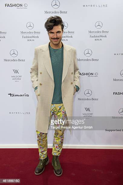 Andre Borchers attends the Paper London presented by MercedesBenz and Elle show during the MercedesBenz Fashion Week Berlin Autumn/Winter 2015/16 at...
