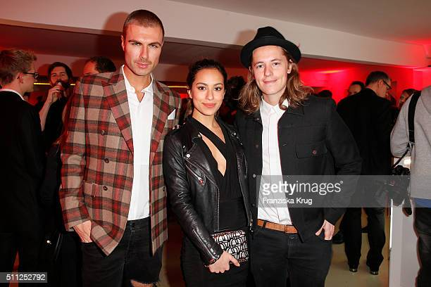 Andre Borchers Gizem Emre and Pierre Sarkozy attend the 99FireFilmAward 2016 at Admiralspalast on February 18 2016 in Berlin Germany
