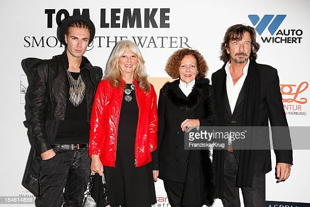 Andre Borchers Ingrid RoosenTrinks Marietta Andreae and Tom Lemke attend the opening night of 'Smoke@thewater' by Tom Lemke at the der Richard Meier...