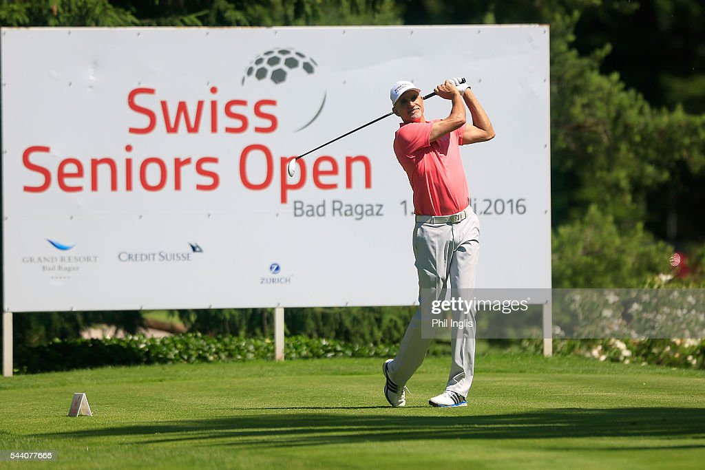 Andre Bossert of Switzerland in action during the the first round of the Swiss Seniors Open played at Golf Club Bad Ragaz on July 1, 2016 in Bad Ragaz, Switzerland.
