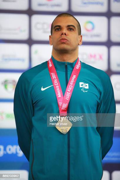 Andre Brasil of Brazil Gold Medal in men's 400 m Freestyle S10 during day 7 of the Para Swimming World Championship Mexico City 2017 at Francisco...