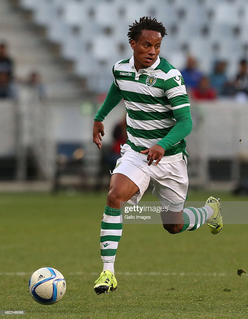 Andre Carrillo Diaz of Sporting Club de Portugal during the 2015 Cape Town Cup Final match between Crystal Palace FC and Sporting Lisbon at Cape Town Stadium on July 26, 2015 in Cape Town, South Africa.