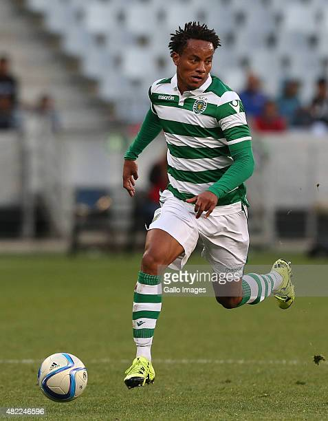 Andre Carrillo Diaz of Sporting Club de Portugal during the 2015 Cape Town Cup Final match between Crystal Palace FC and Sporting Lisbon at Cape Town...
