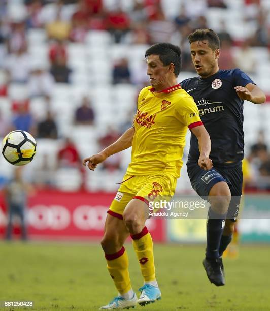 Andre Castro of Goztepe in action during the Turkish Super Lig soccer match between Antalyaspor and Goztepe at Antalya Stadium in Antalya Turkey on...