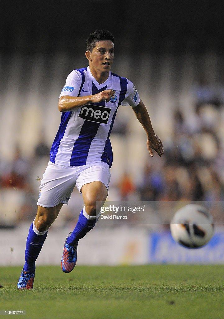 Andre Castro of Porto CF runs with the ball during a Pre-Season friendly match between Valencia CF and FC Porto at Estadio Mestalla on July 28, 2012 in Valencia, Spain.