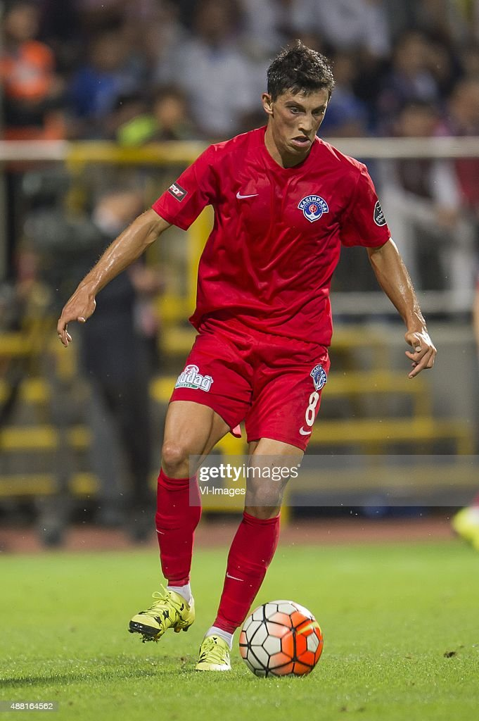 Andre Castro Pereira of Kasimpasa SK during the Super Lig match between Kasimpasa SK and Fenerbahce on September 13, 2015 at the Recep Tayyip Erdogan stadium in Istanbul, Turkey.